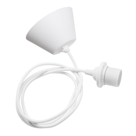Ceiling cableset white E27