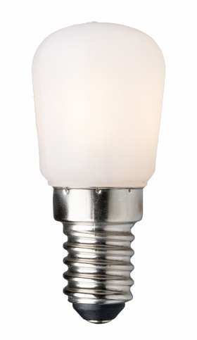 LED T26 E14 frosted varm vit