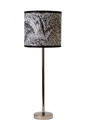 Feather 19 silver jane krom lampa