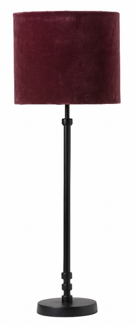 Jones svart lampa Sanna 28 burgundy